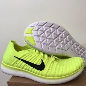 NIKE Free Run Flyknit GS volt white